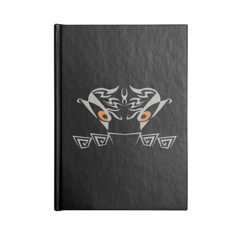 Tohunga ! The Guru - Orange Eyes - Tribal Design Accessories Blank Journal Notebook by TribEyes by Oly