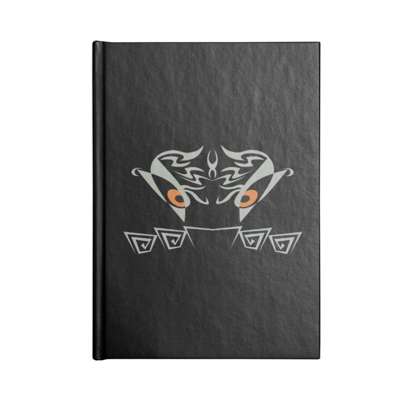 Tohunga ! The Guru - Orange Eyes - Tribal Design Accessories Lined Journal Notebook by TribEyes by Oly