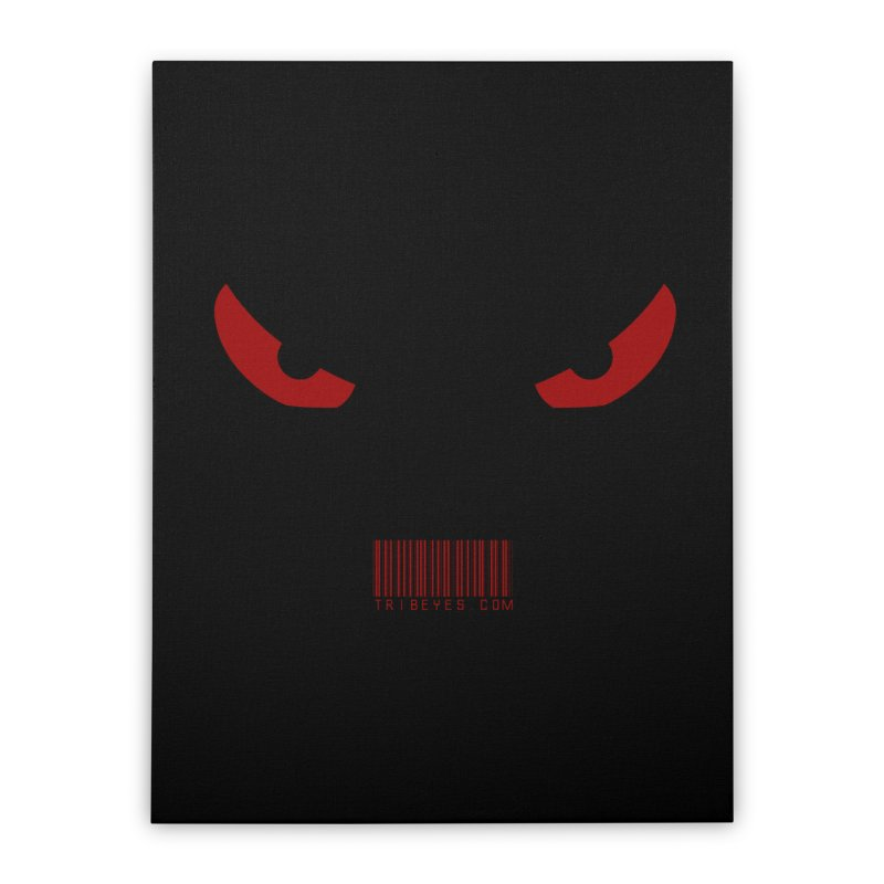 Toa - Tribal Red Eyes - with Barcode Home Stretched Canvas by TribEyes by Oly