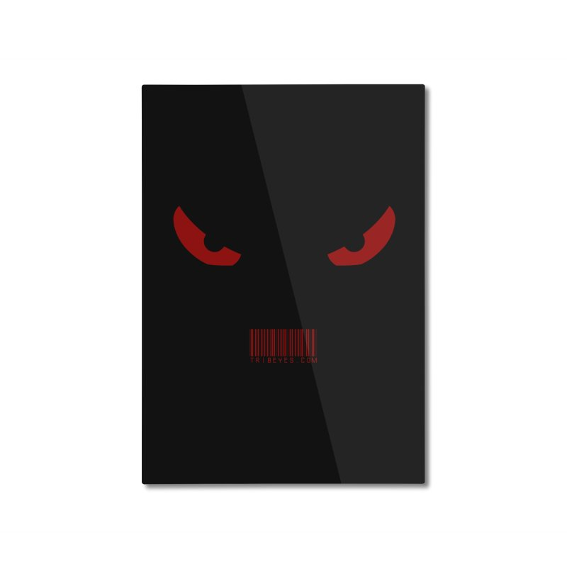 Toa - Tribal Red Eyes - with Barcode Home Mounted Aluminum Print by TribEyes by Oly