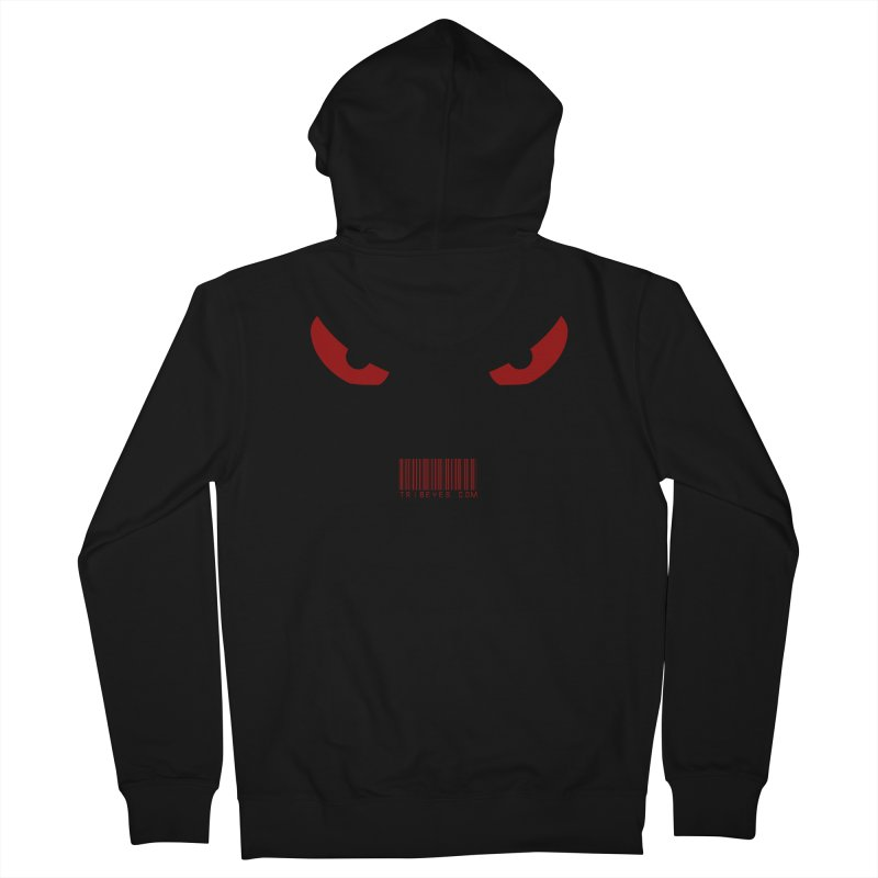 Toa - Tribal Red Eyes - with Barcode Men's Zip-Up Hoody by TribEyes by Oly