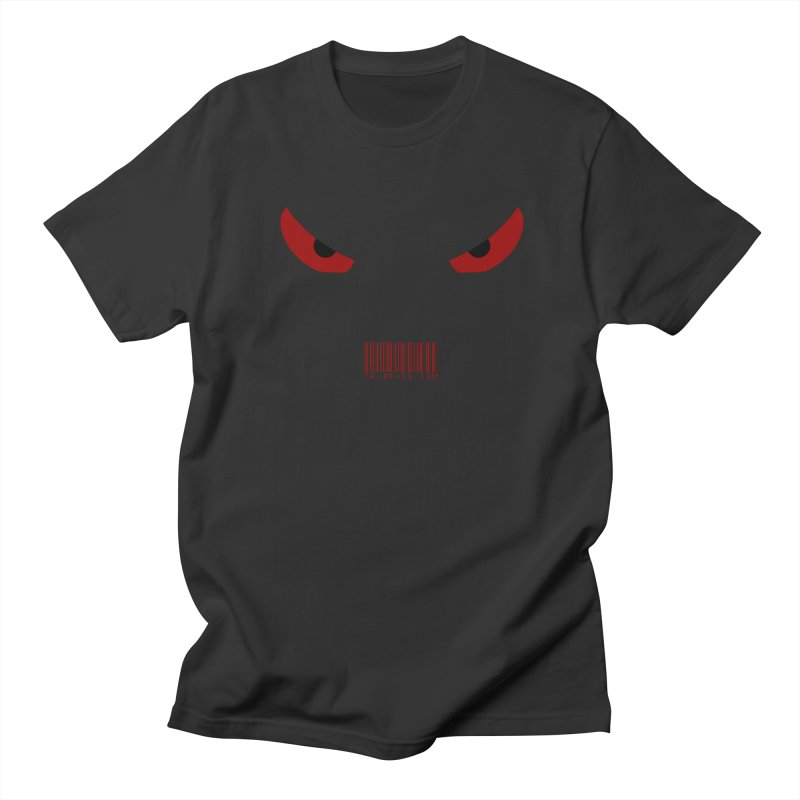 Toa - Tribal Red Eyes - with Barcode Men's T-Shirt by TribEyes by Oly