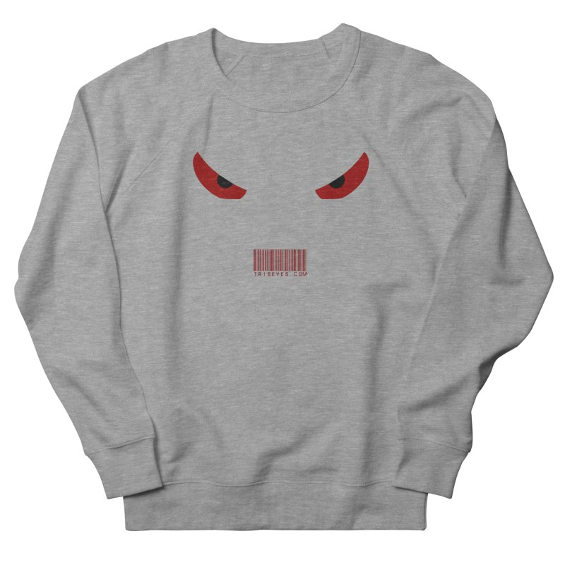 Toa - Tribal Red Eyes - with Barcode in Men's French Terry Sweatshirt Heather Graphite by TribEyes by Oly