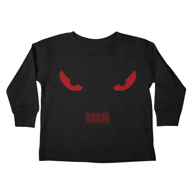Toa - Tribal Red Eyes - with Barcode Kids Toddler Longsleeve T-Shirt by TribEyes by Oly