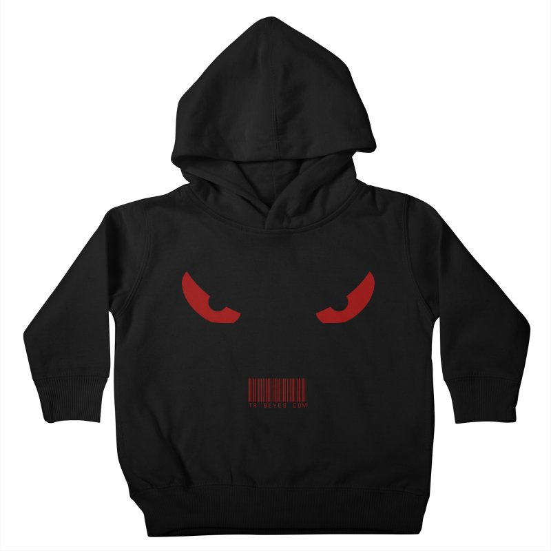 Toa - Tribal Red Eyes - with Barcode Kids Toddler Pullover Hoody by TribEyes by Oly