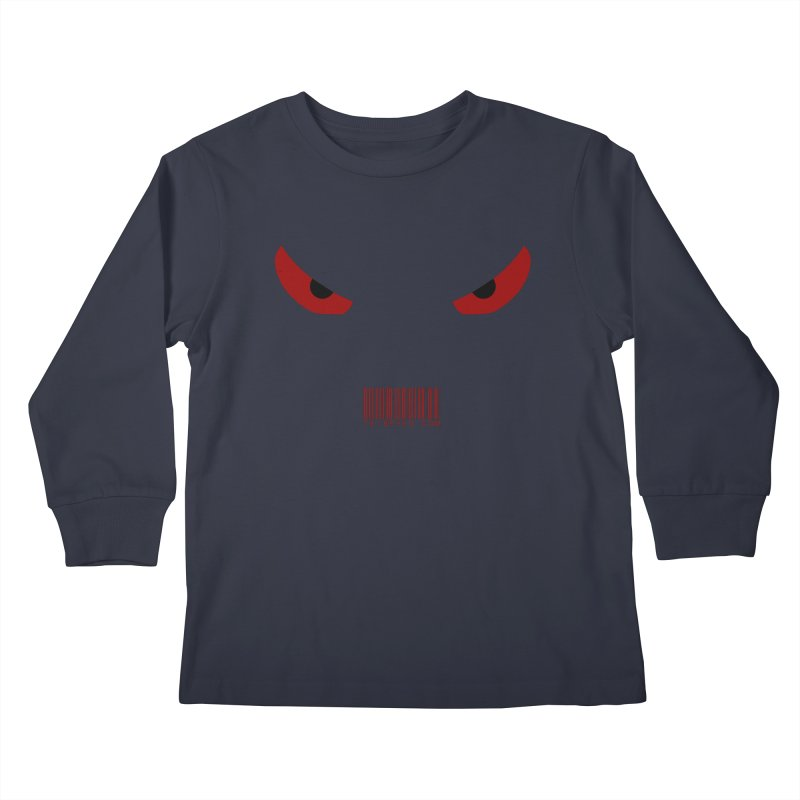 Toa - Tribal Red Eyes - with Barcode Kids Longsleeve T-Shirt by TribEyes by Oly