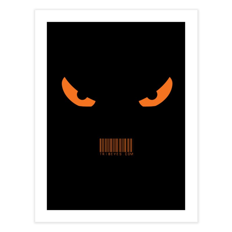 Toa - Tribal Orange Eyes - with Barcode Home Fine Art Print by TribEyes by Oly