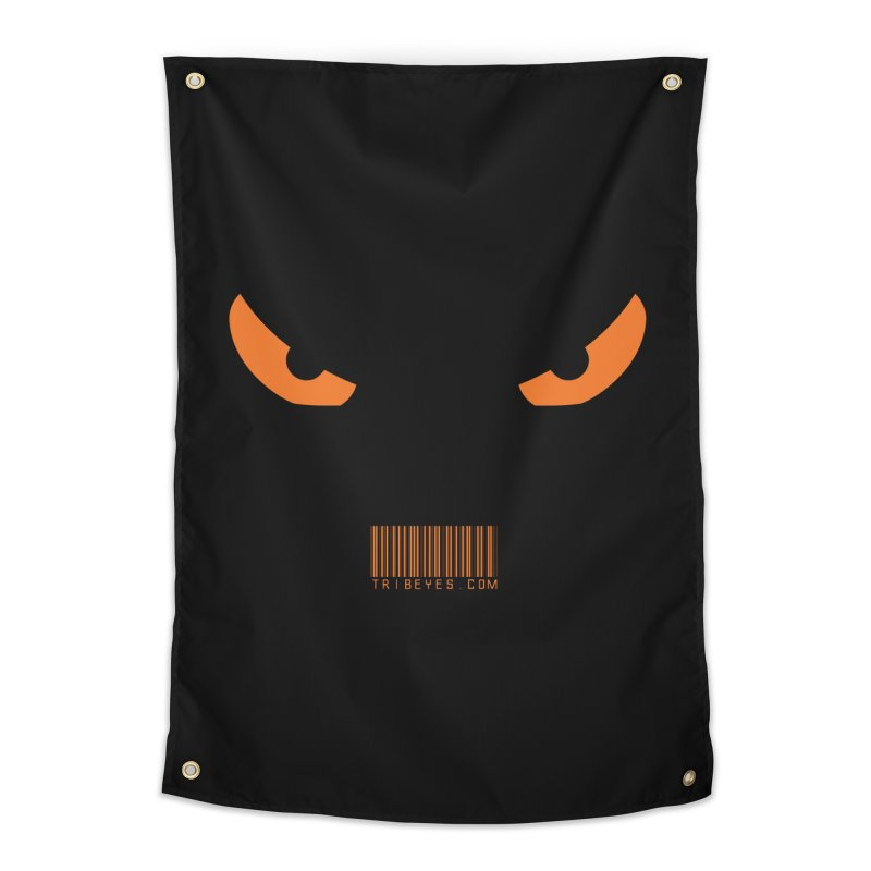 Toa - Tribal Orange Eyes - with Barcode Home Tapestry by TribEyes by Oly