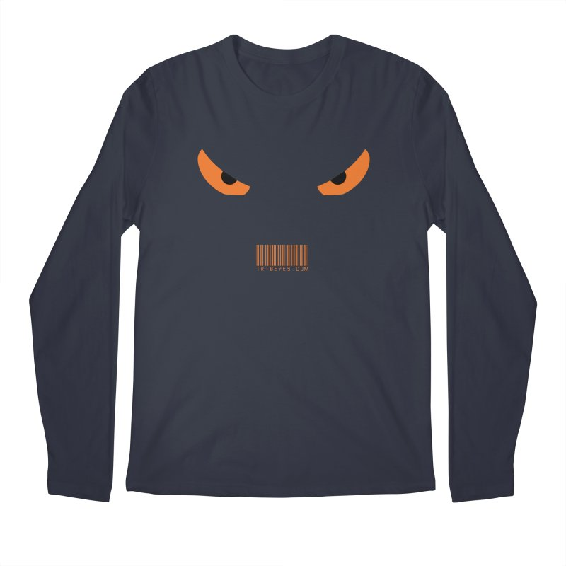 Toa - Tribal Orange Eyes - with Barcode in Men's Regular Longsleeve T-Shirt Midnight by TribEyes by Oly