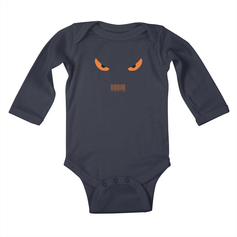 Toa - Tribal Orange Eyes - with Barcode Kids Baby Longsleeve Bodysuit by TribEyes by Oly