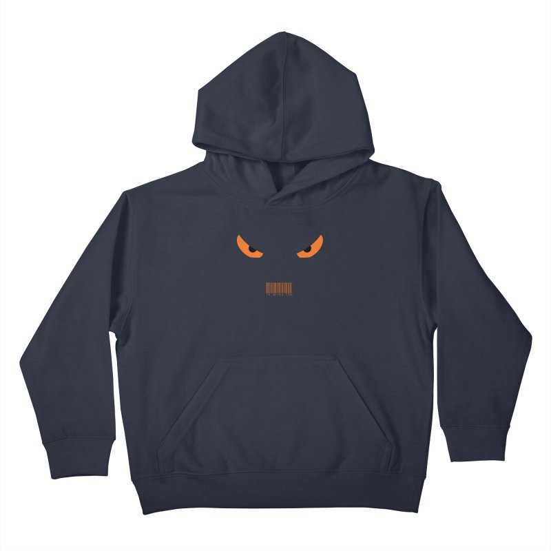Toa - Tribal Orange Eyes - with Barcode Kids Pullover Hoody by TribEyes by Oly