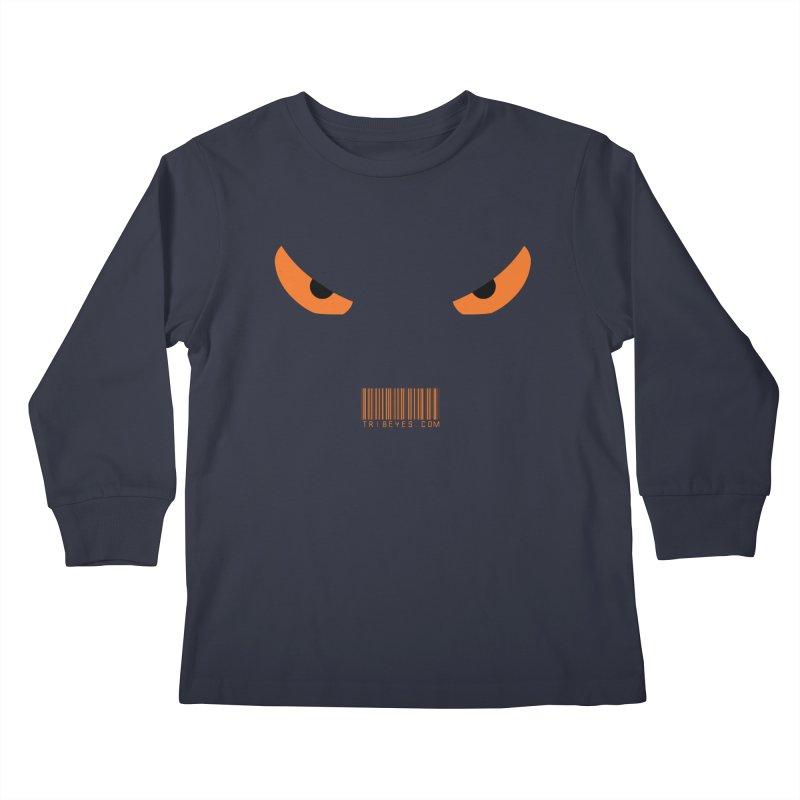 Toa - Tribal Orange Eyes - with Barcode Kids Longsleeve T-Shirt by TribEyes by Oly