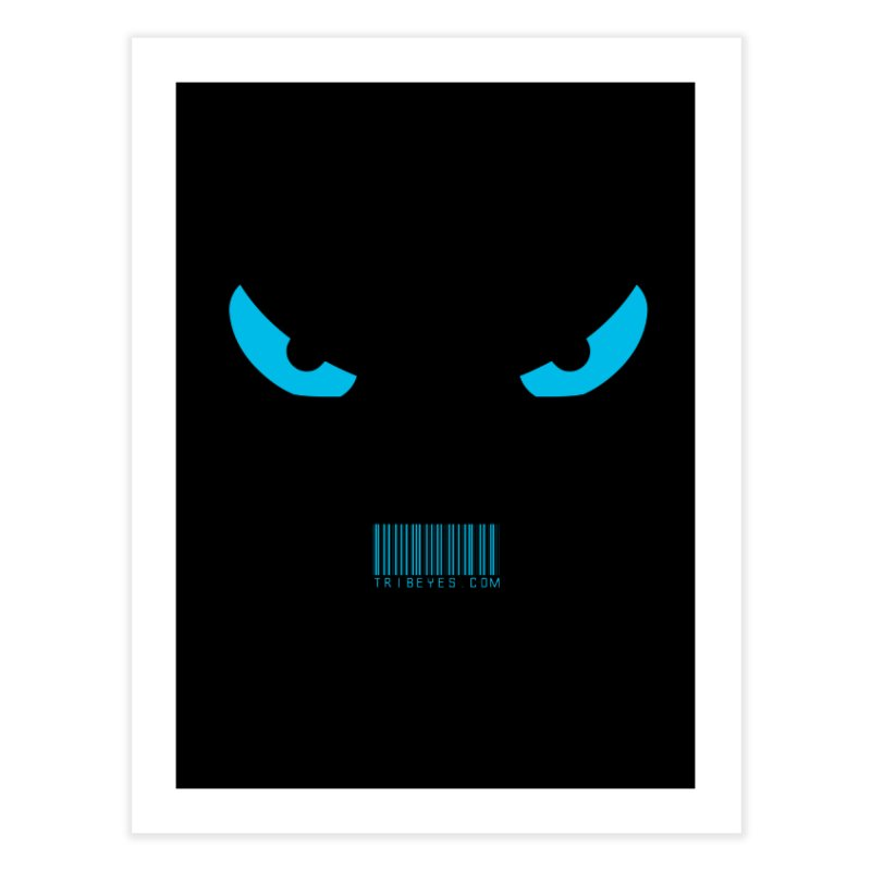 Toa - Tribal Blue Eyes - with Barcode Home Fine Art Print by TribEyes by Oly