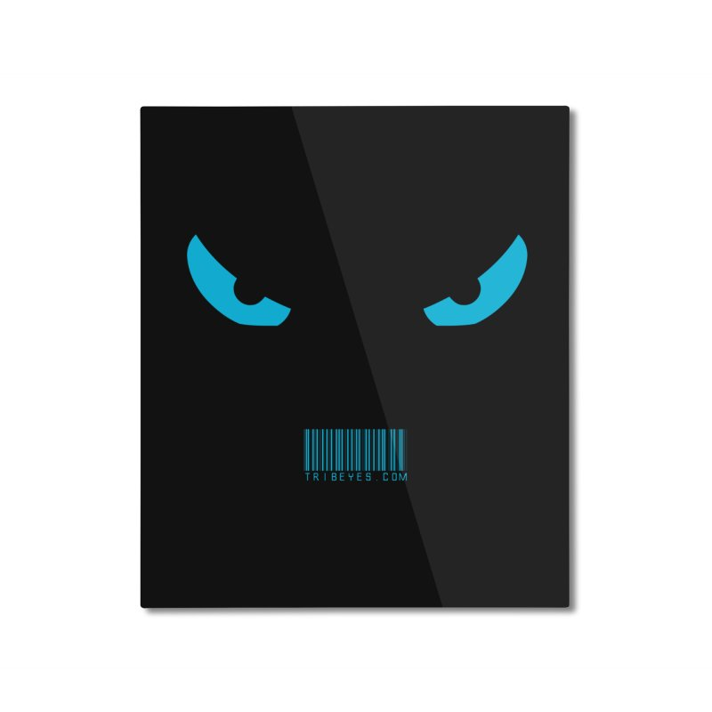 Toa - Tribal Blue Eyes - with Barcode Home Mounted Aluminum Print by TribEyes by Oly