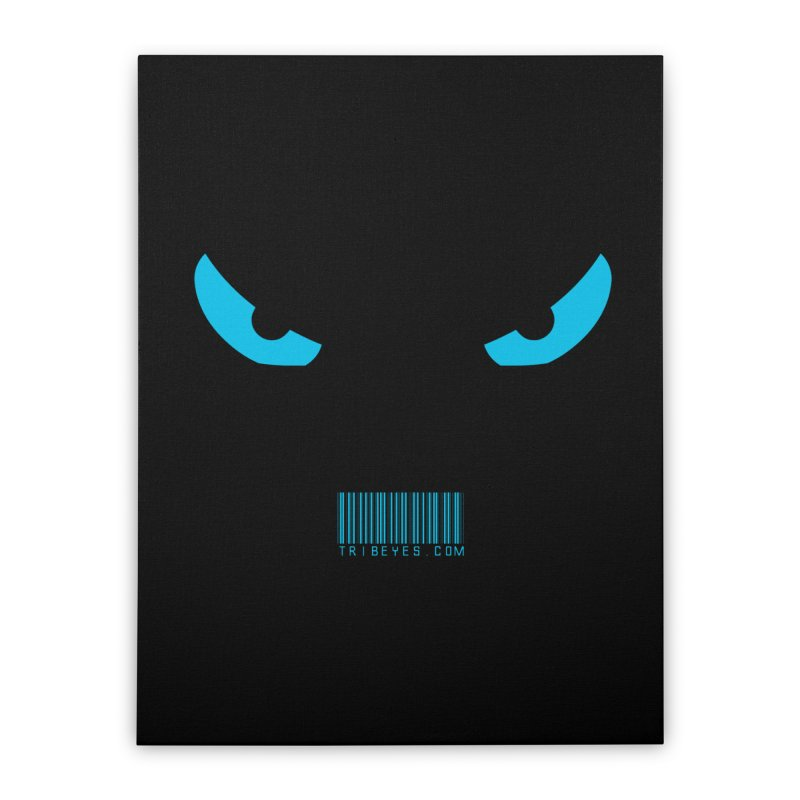 Toa - Tribal Blue Eyes - with Barcode Home Stretched Canvas by TribEyes by Oly