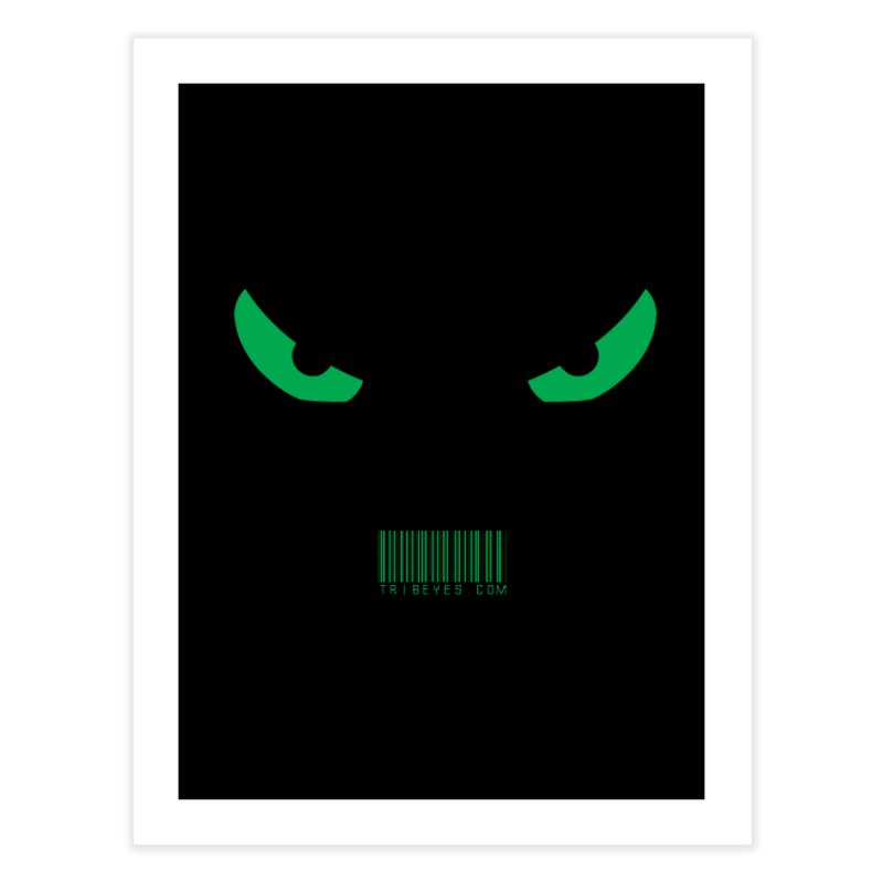 Toa - Tribal Green Eyes - with Barcode Home Fine Art Print by TribEyes by Oly