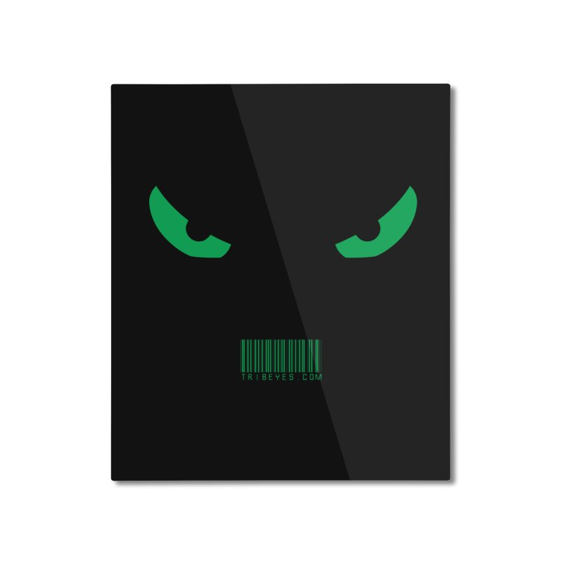 Toa - Tribal Green Eyes - with Barcode Home Mounted Aluminum Print by TribEyes by Oly