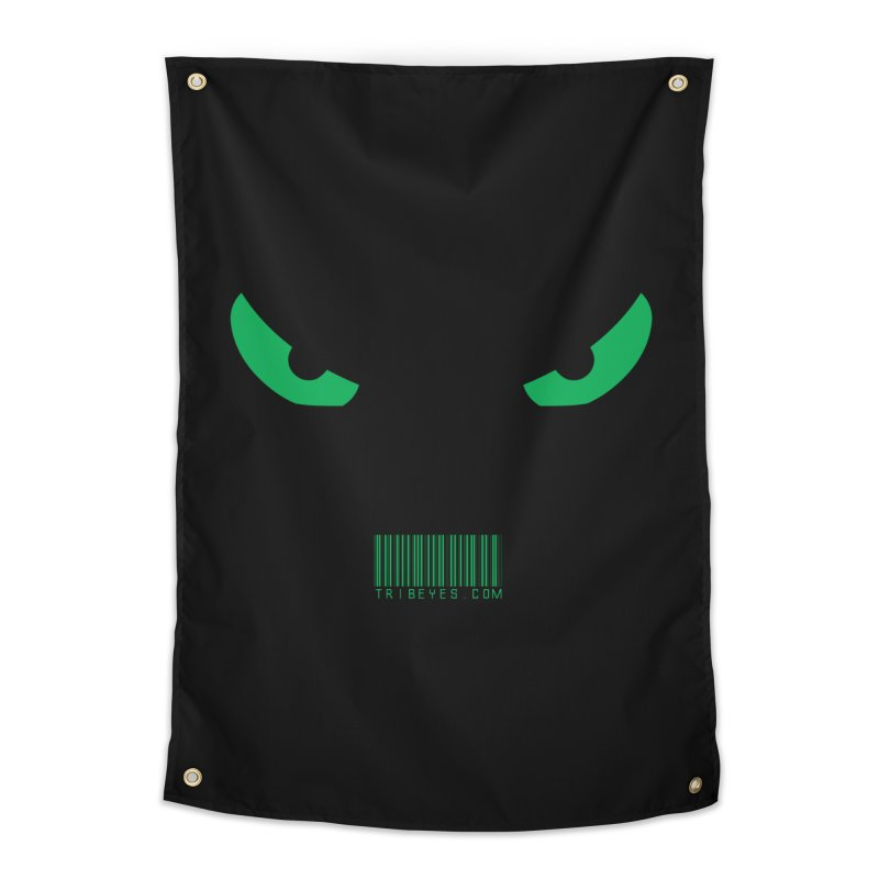 Toa - Tribal Green Eyes - with Barcode Home Tapestry by TribEyes by Oly