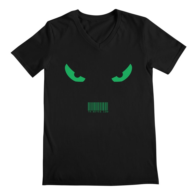 Toa - Tribal Green Eyes - with Barcode Men's V-Neck by TribEyes by Oly