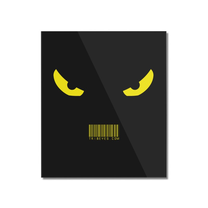 Toa - Tribal Yellow Eyes - with Barcode Home Mounted Acrylic Print by TribEyes by Oly