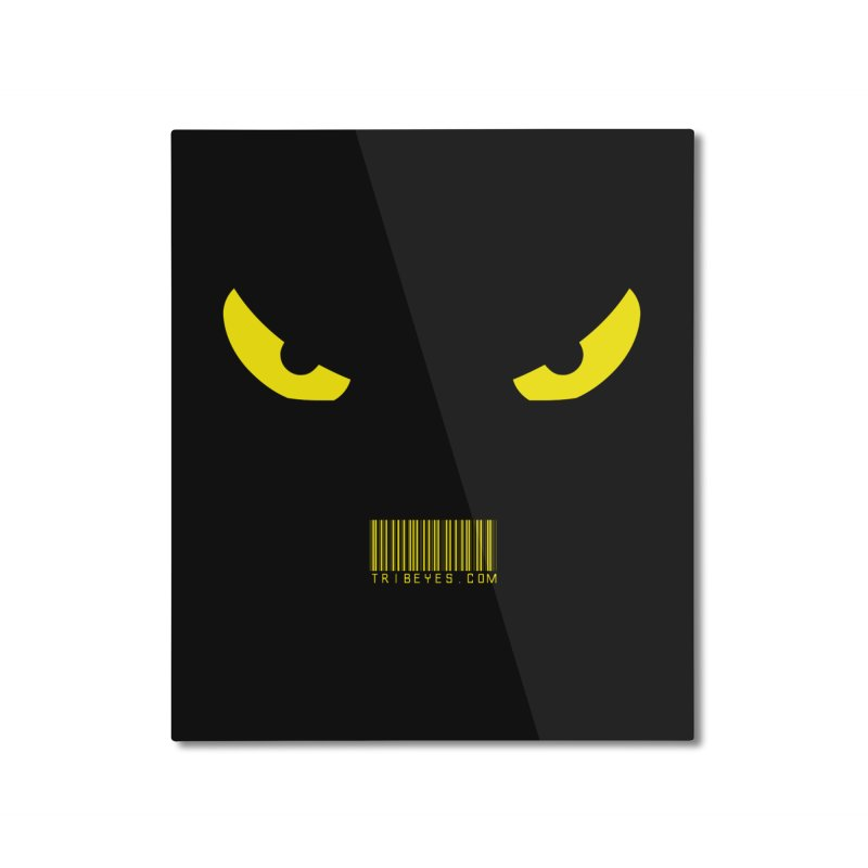Toa - Tribal Yellow Eyes - with Barcode Home Mounted Aluminum Print by TribEyes by Oly