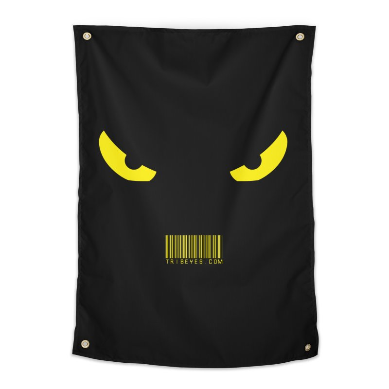 Toa - Tribal Yellow Eyes - with Barcode Home Tapestry by TribEyes by Oly