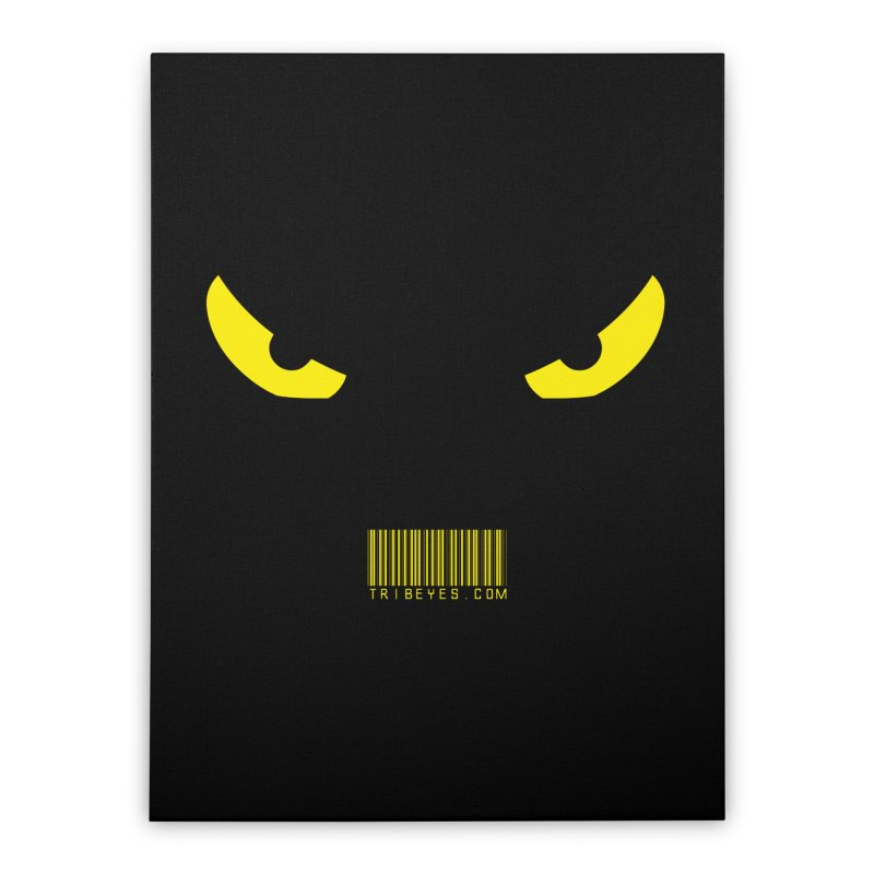 Toa - Tribal Yellow Eyes - with Barcode Home Stretched Canvas by TribEyes by Oly