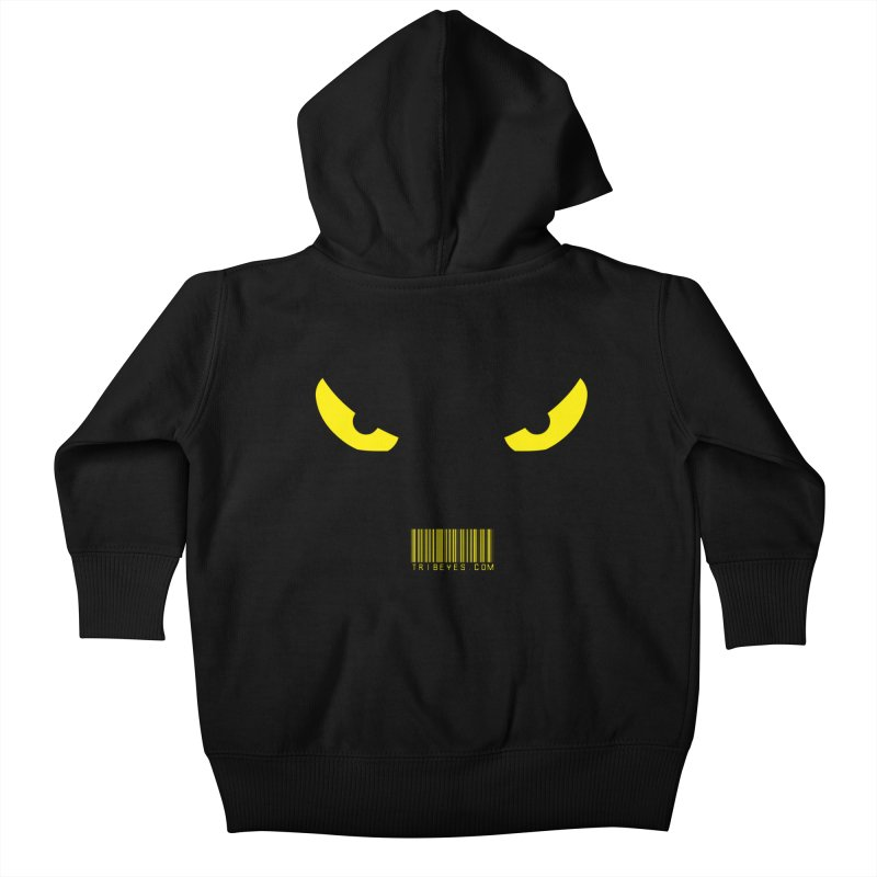 Toa - Tribal Yellow Eyes - with Barcode Kids Baby Zip-Up Hoody by TribEyes by Oly