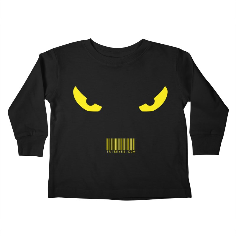 Toa - Tribal Yellow Eyes - with Barcode Kids Toddler Longsleeve T-Shirt by TribEyes by Oly