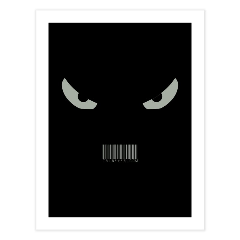 Toa - Tribal Grey Eyes - with Barcode Home Fine Art Print by TribEyes by Oly