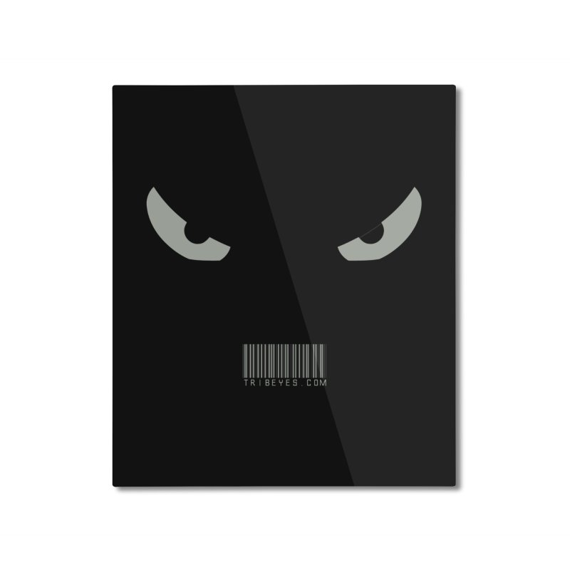 Toa - Tribal Grey Eyes - with Barcode Home Mounted Aluminum Print by TribEyes by Oly