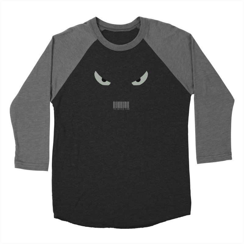 Toa - Tribal Grey Eyes - with Barcode Men's Baseball Triblend Longsleeve T-Shirt by TribEyes by Oly