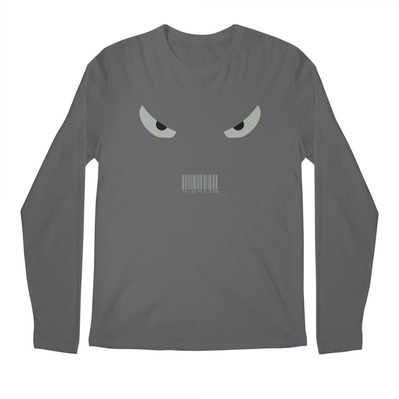 Toa - Tribal Grey Eyes - with Barcode Men's Longsleeve T-Shirt by TribEyes by Oly