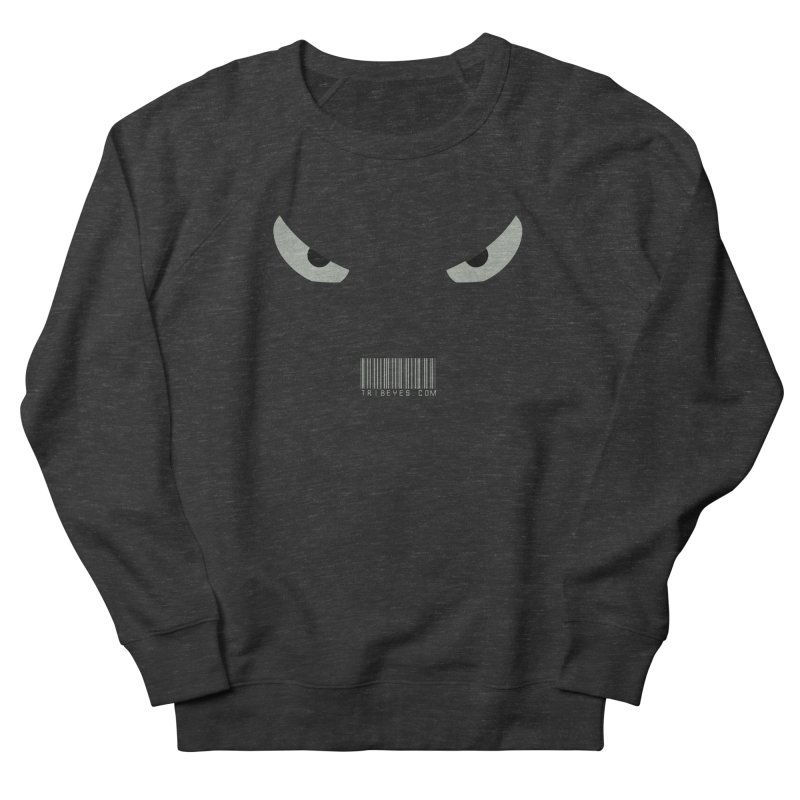 Toa - Tribal Grey Eyes - with Barcode Men's French Terry Sweatshirt by TribEyes by Oly