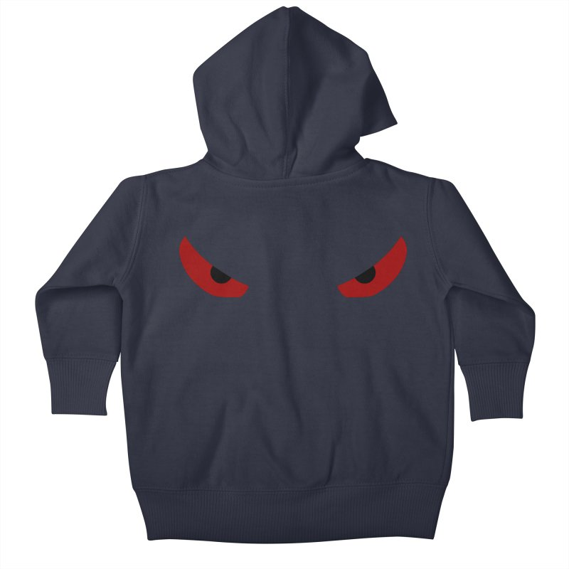 Toa - Tribal Red Eyes - Limited Edition Kids Baby Zip-Up Hoody by TribEyes by Oly