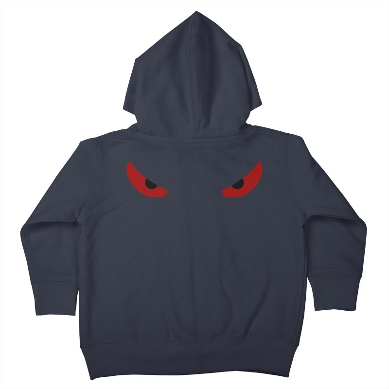 Toa - Tribal Red Eyes - Limited Edition Kids Toddler Zip-Up Hoody by TribEyes by Oly