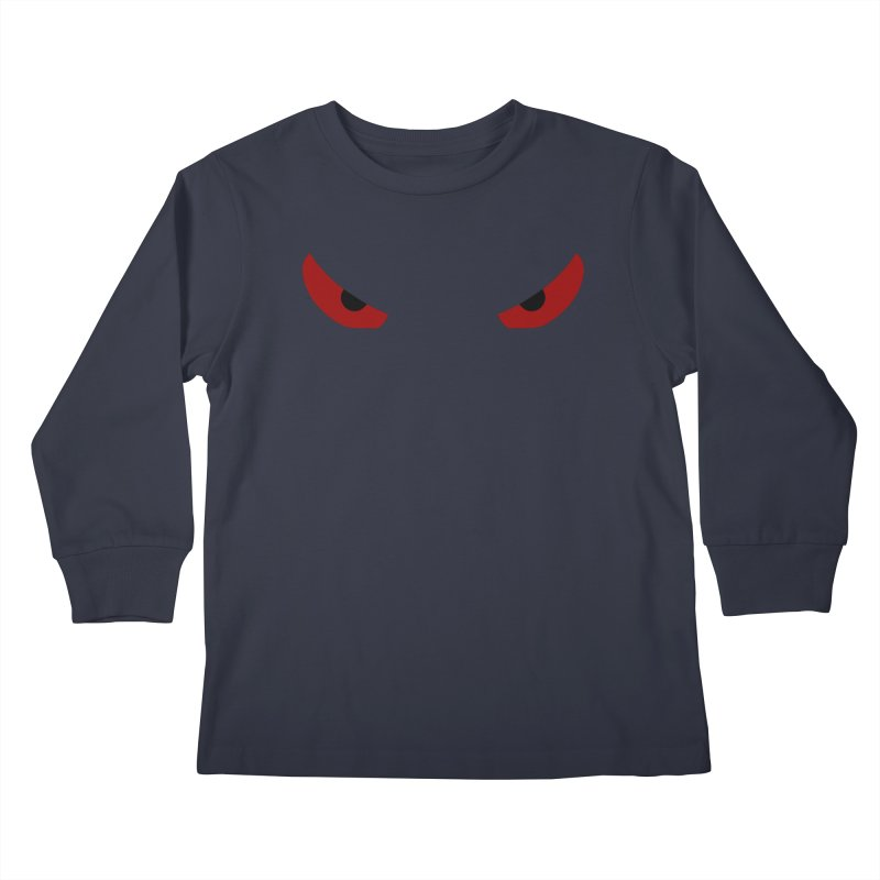 Toa - Tribal Red Eyes - Limited Edition Kids Longsleeve T-Shirt by TribEyes by Oly