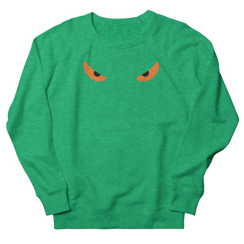 Toa - Tribal Orange Eyes - Limited Edition Men's French Terry Sweatshirt by TribEyes by Oly