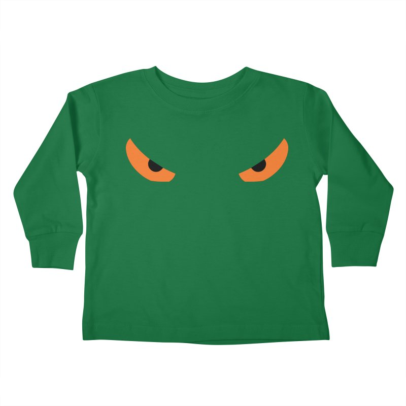 Toa - Tribal Orange Eyes - Limited Edition Kids Toddler Longsleeve T-Shirt by TribEyes by Oly