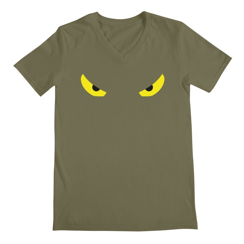Toa - Tribal Yellow Eyes - Limited Edition Men's Regular V-Neck by TribEyes by Oly