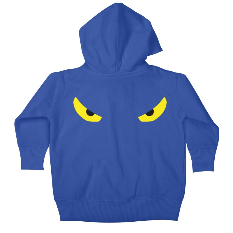 Toa - Tribal Yellow Eyes - Limited Edition Kids Baby Zip-Up Hoody by TribEyes by Oly