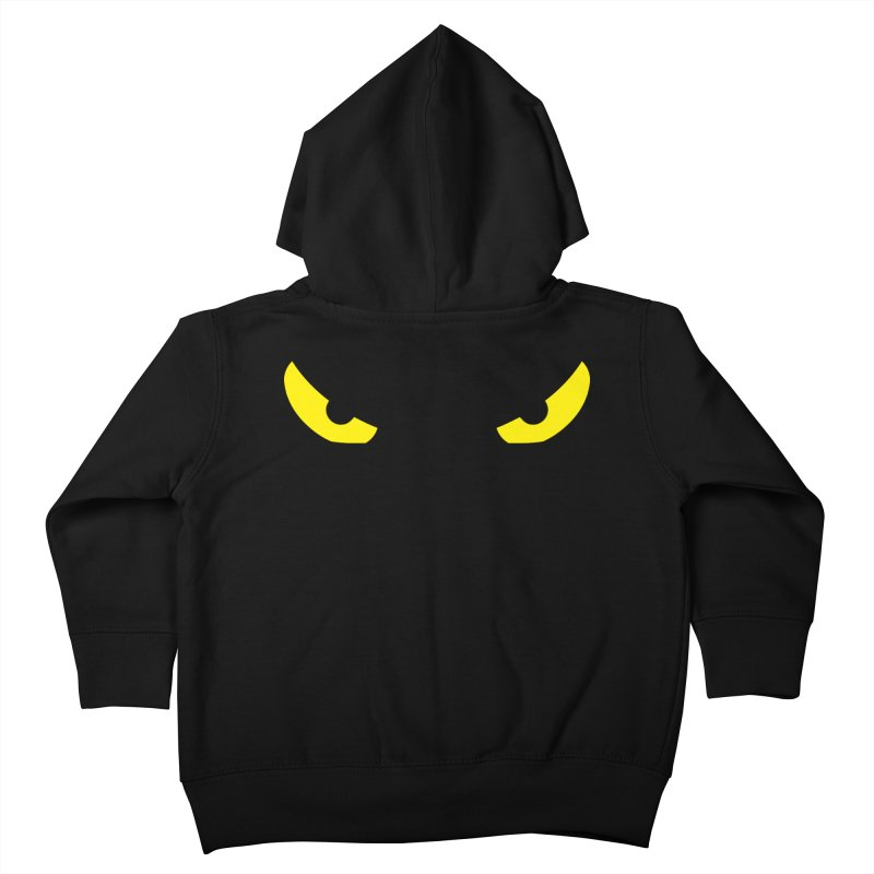 Toa - Tribal Yellow Eyes - Limited Edition Kids Toddler Zip-Up Hoody by TribEyes by Oly