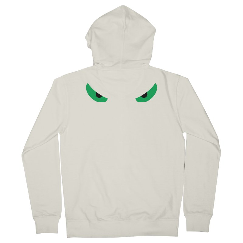 Toa - Tribal Green Eyes - Limited Edition Women's French Terry Zip-Up Hoody by TribEyes by Oly