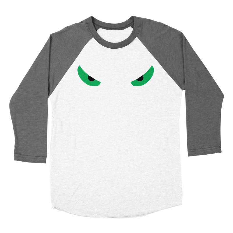 Toa - Tribal Green Eyes - Limited Edition Men's Baseball Triblend Longsleeve T-Shirt by TribEyes by Oly