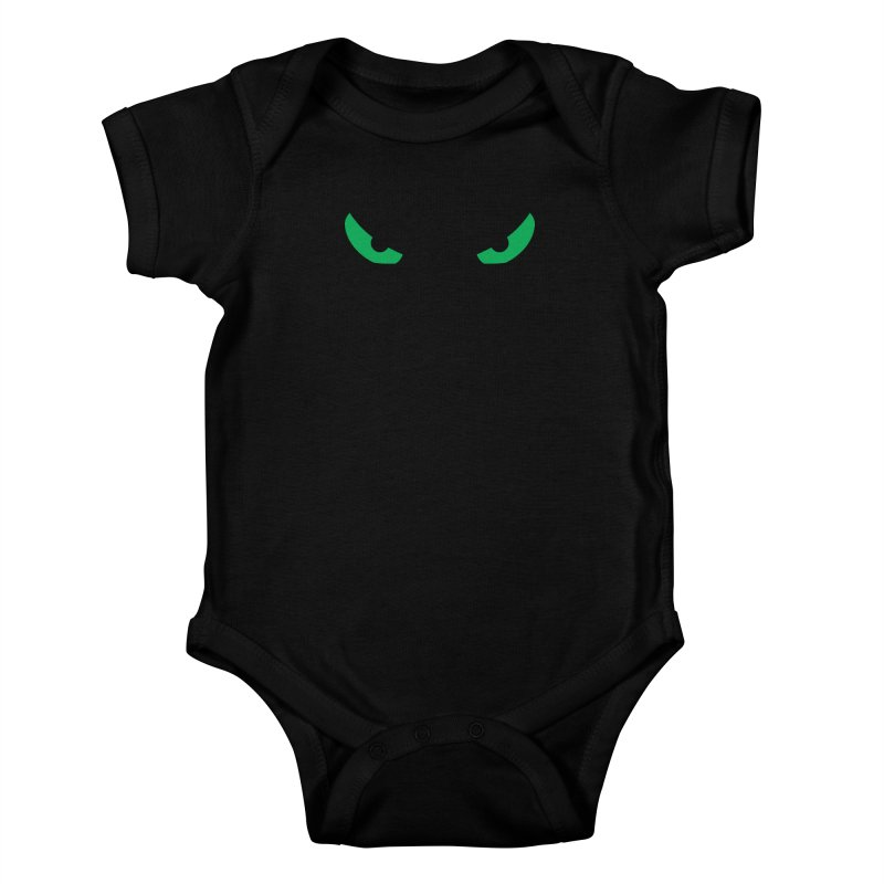 Toa - Tribal Green Eyes - Limited Edition Kids Baby Bodysuit by TribEyes by Oly