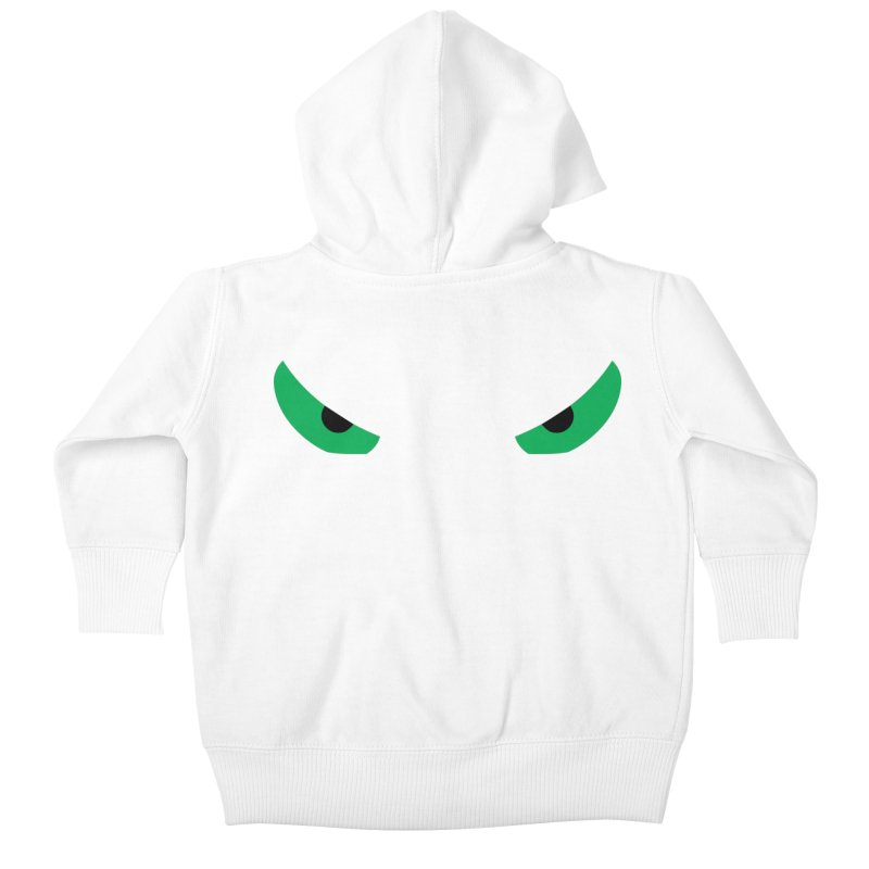 Toa - Tribal Green Eyes - Limited Edition Kids Baby Zip-Up Hoody by TribEyes by Oly