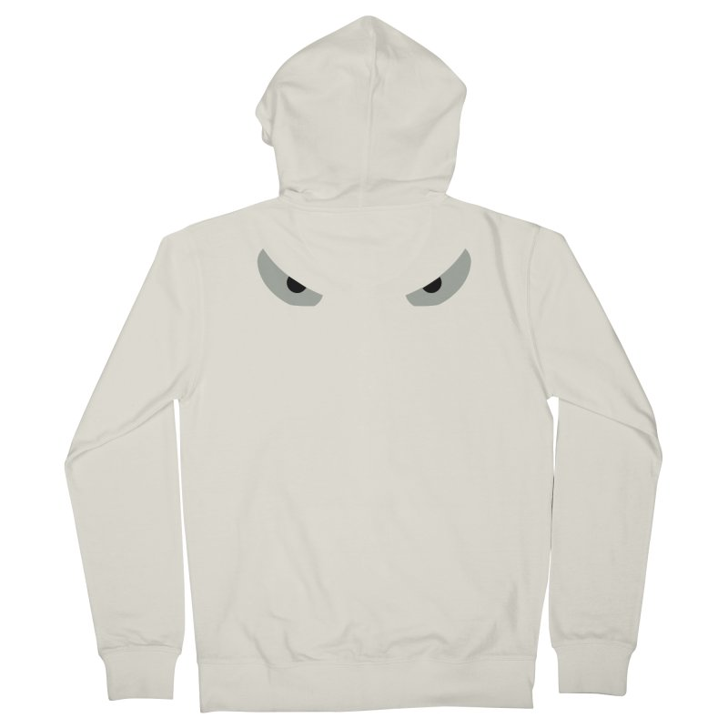 Toa - Tribal Grey Eyes - Limited Edition Men's French Terry Zip-Up Hoody by TribEyes by Oly