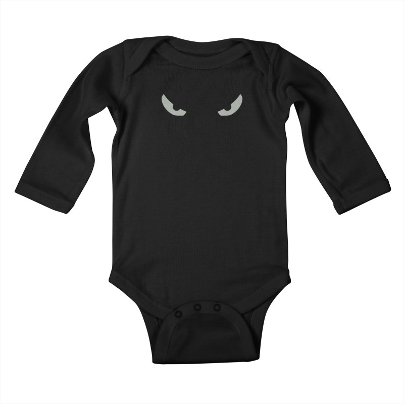 Toa - Tribal Grey Eyes - Limited Edition Kids Baby Longsleeve Bodysuit by TribEyes by Oly