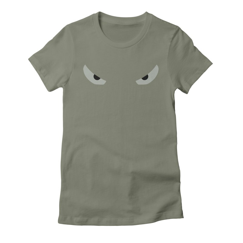 Toa - Tribal Grey Eyes - Limited Edition Women's Fitted T-Shirt by TribEyes by Oly