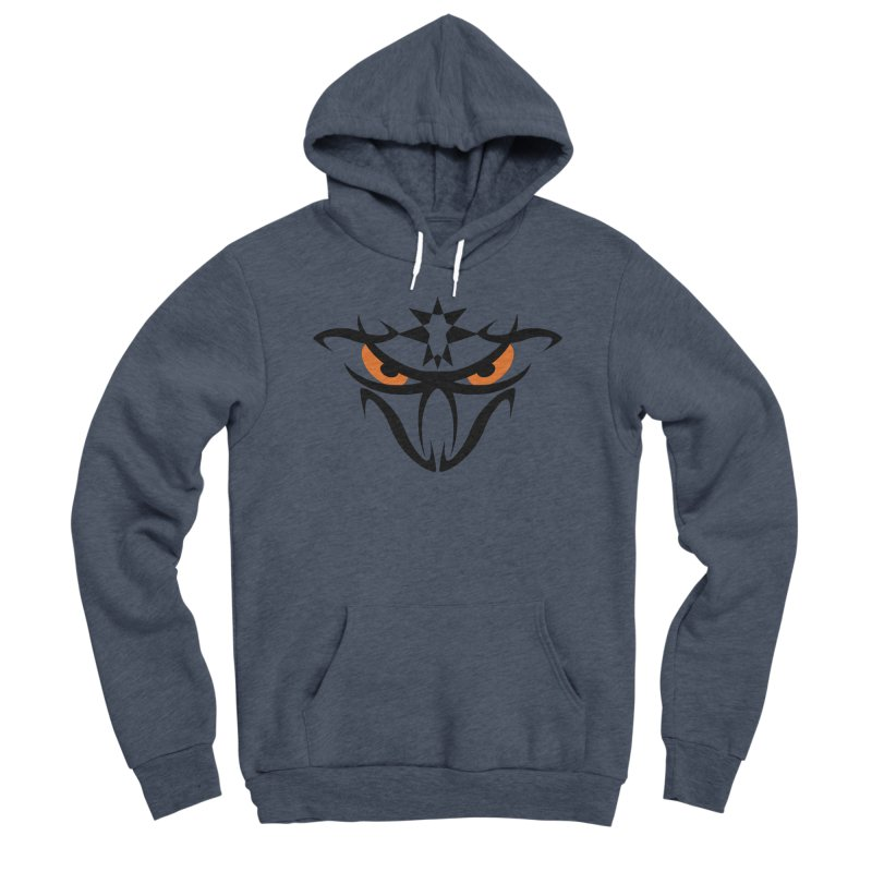 Toa ! The Tribal Bold and Star - Orange Eyes Men's Sponge Fleece Pullover Hoody by TribEyes by Oly